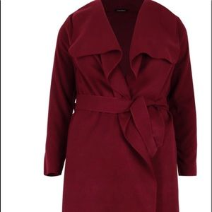 Plus Wool Look Coat